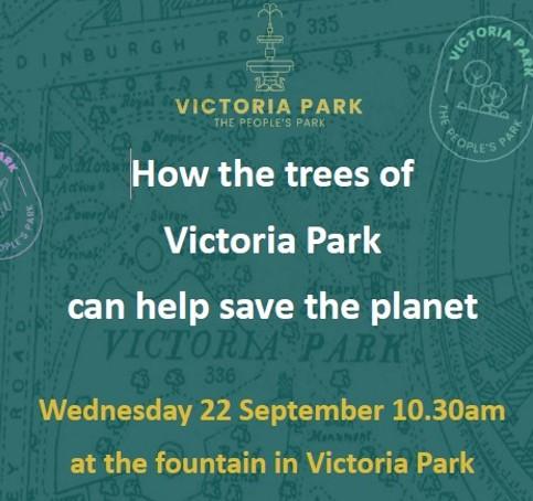 Tree talk Victoria Park Weds 22 Sept 10.30am